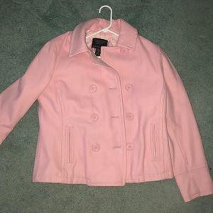 XL pink pea coat